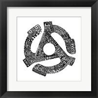 45 Record Adapter (Music Genres) Framed Print