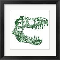 Framed T Rex Skull (Popular Dinosaur Names)
