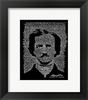 Framed Edgar Allen Poe (The Raven)