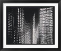 Framed Chrysler Building Motion Landscape #4