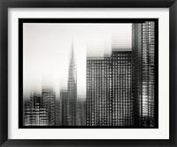 Framed Chrysler Building Motion Landscape #1