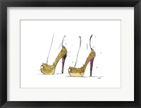 Framed Golden Heels