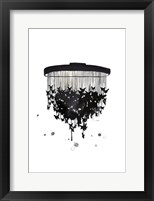Framed Butterfly Chandelier