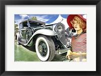 Framed 1930 Cadillac 16 Cylinder