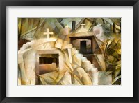 Framed Abstract Cubistic Church