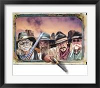 Framed Four Hombres