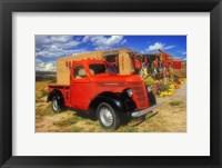 Framed Red Chili Truck