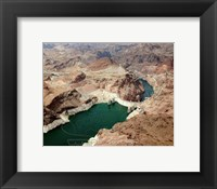 Framed Aerial view of the Hoover Dam- Arizona