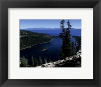 Framed Emerald Bay lies near South Lake Tahoe, California