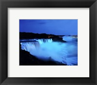 Framed Niagara Falls at night, Niagara Falls, New York