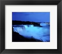 Framed Niagara Falls at night, Niagara Falls, New York