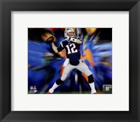 Framed Tom Brady Motion Blast