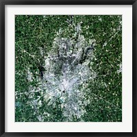 Framed Satellite view of Indianapolis, Indiana
