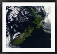 Framed Satellite view of New Zealand