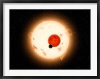 Framed Artist's concept of the Kepler-16 System