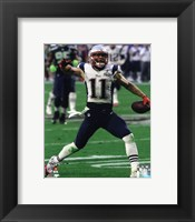 Framed Julian Edelman Super Bowl XLIX Action