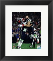 Framed Rob Ninkovich & Julian Edelman Super Bowl XLIX Action