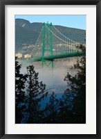 Framed British Columbia, Vancouver, Lion's Gate Bridge over Fog
