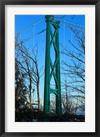 Framed British Columbia, Vancouver, Lion's Gate Bridge Tower