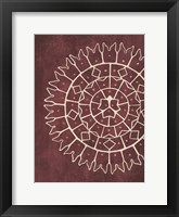 Coastal Patterns Marsala 1 Framed Print