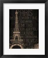 Framed Burlap Paris