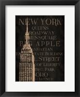 Burlap New York Framed Print