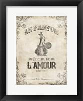 Odeur de Lamour Framed Print