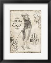 High End Rooster Cream (vertical) Framed Print
