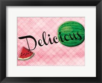 Framed Delicious Watermelons - Pink