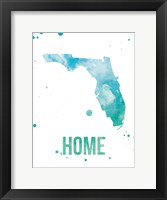 Framed Florida Watercolor - Home