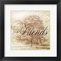 Friends Tree Framed Print