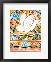Framed White  Bird 1 with Border