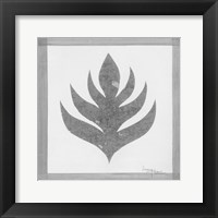Pewter Fire I Framed Print