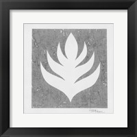Pewter Fire II Framed Print