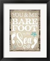 Coastal Love Brown 01 Framed Print