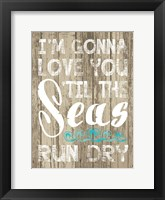 Coastal Love Brown 03 Framed Print
