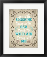 Coastal Love Brown 05 Framed Print