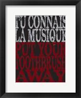 Oui Oui Typography 04 Framed Print