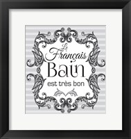 French Grey Bath 1 Framed Print