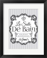 French Grey Bath 2 Framed Print