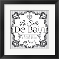 French Bath Set 02 Framed Print