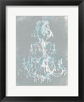 Framed Blue Grey Chandelier