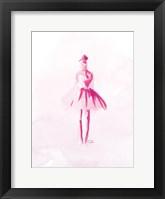 Framed Pink Ballerina