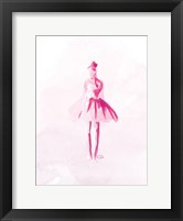 Pink Ballerina Framed Print
