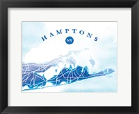 Framed Hamptons Map