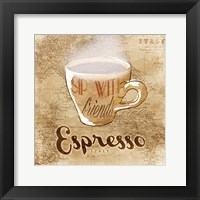 Italy Espresso Framed Print