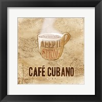 Framed Cafe Cubano