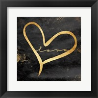 Simple Love (black) Framed Print