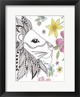 Tribal Lion Portrait Framed Print