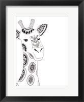 Framed Lone Giraffe